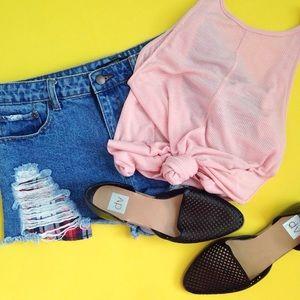 High Waisted Jean Shorts Size 29.